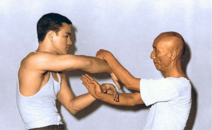 Bruce Lee und Ip Man Chi Sao