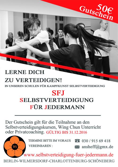 Gutschein Wing Chun Selbstverteidigung